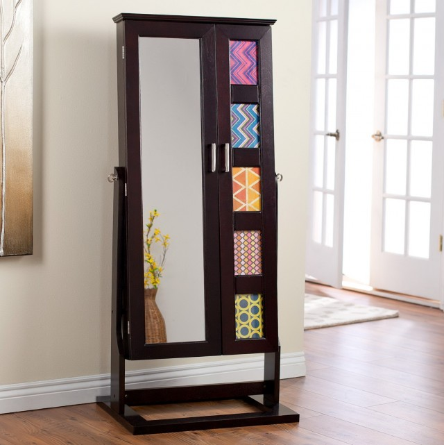 Cheval Mirror Jewelry Armoire