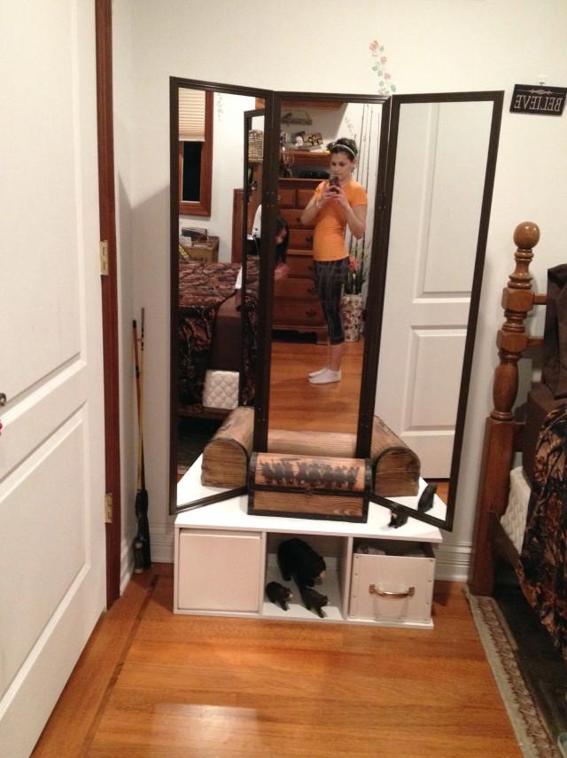 Diy Tri Fold Mirror