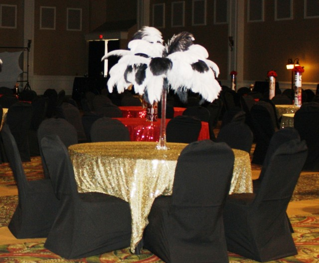 Eiffel Tower Vases Centerpieces Ostrich Feathers
