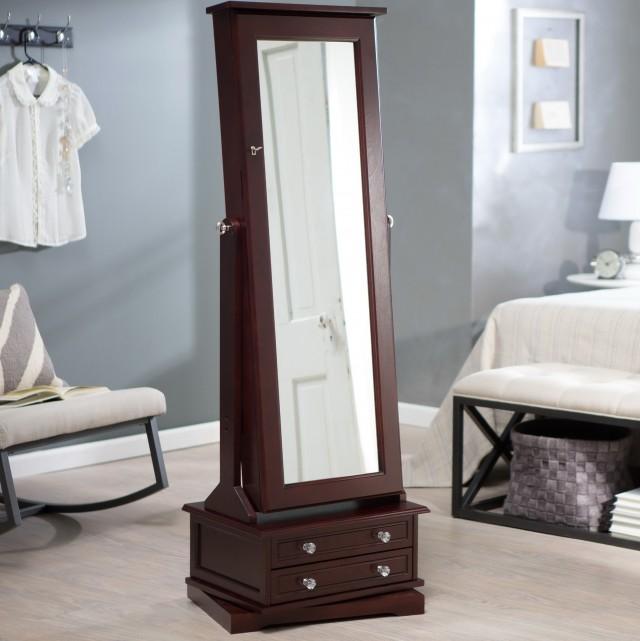 Floor Mirror Jewelry Armoire