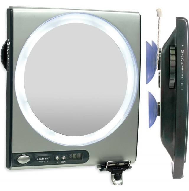 Fogless Shower Mirror With Bluetooth