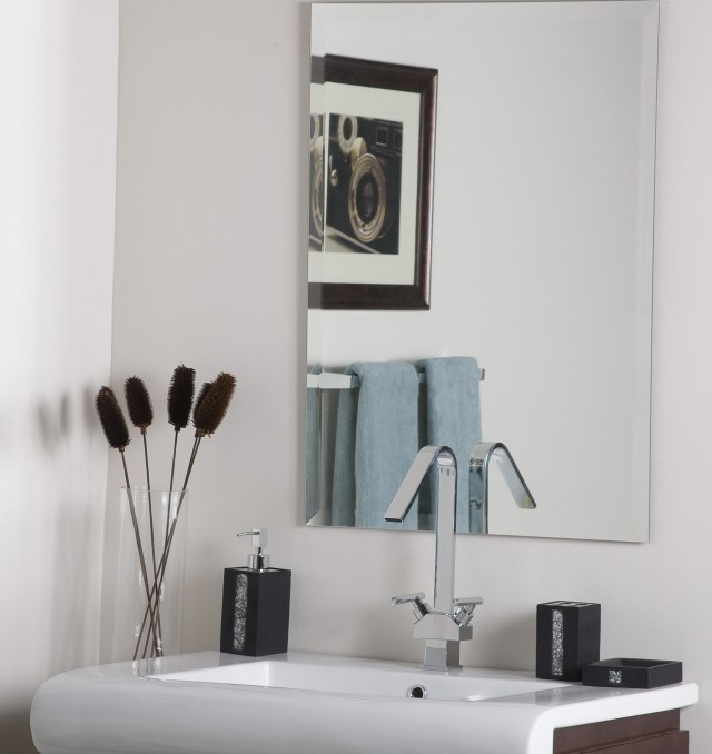 Frameless Bathroom Vanity Mirrors