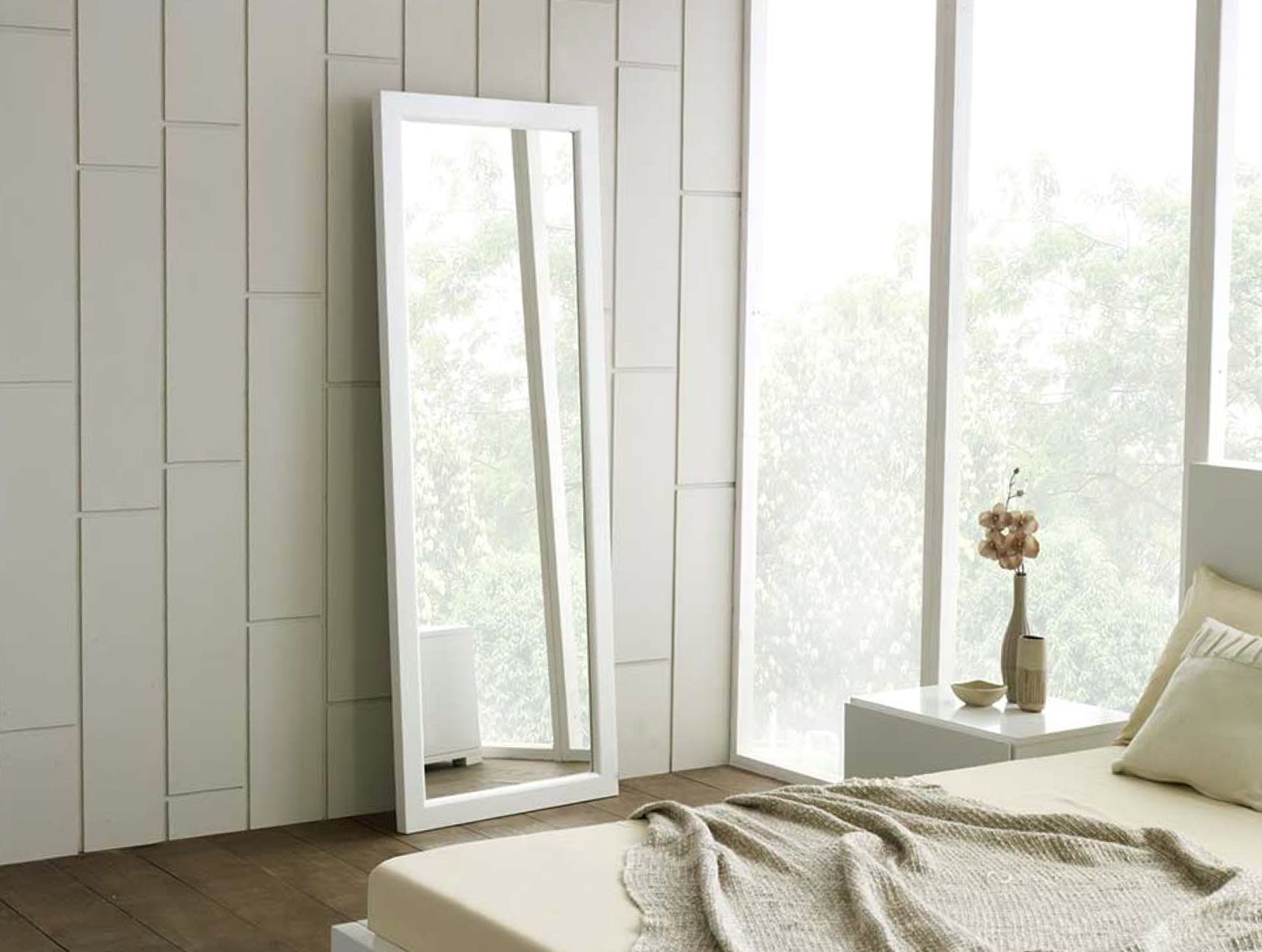 Full Length Wall Mirror White