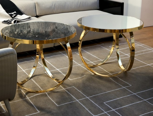Gold Metal Accent Table