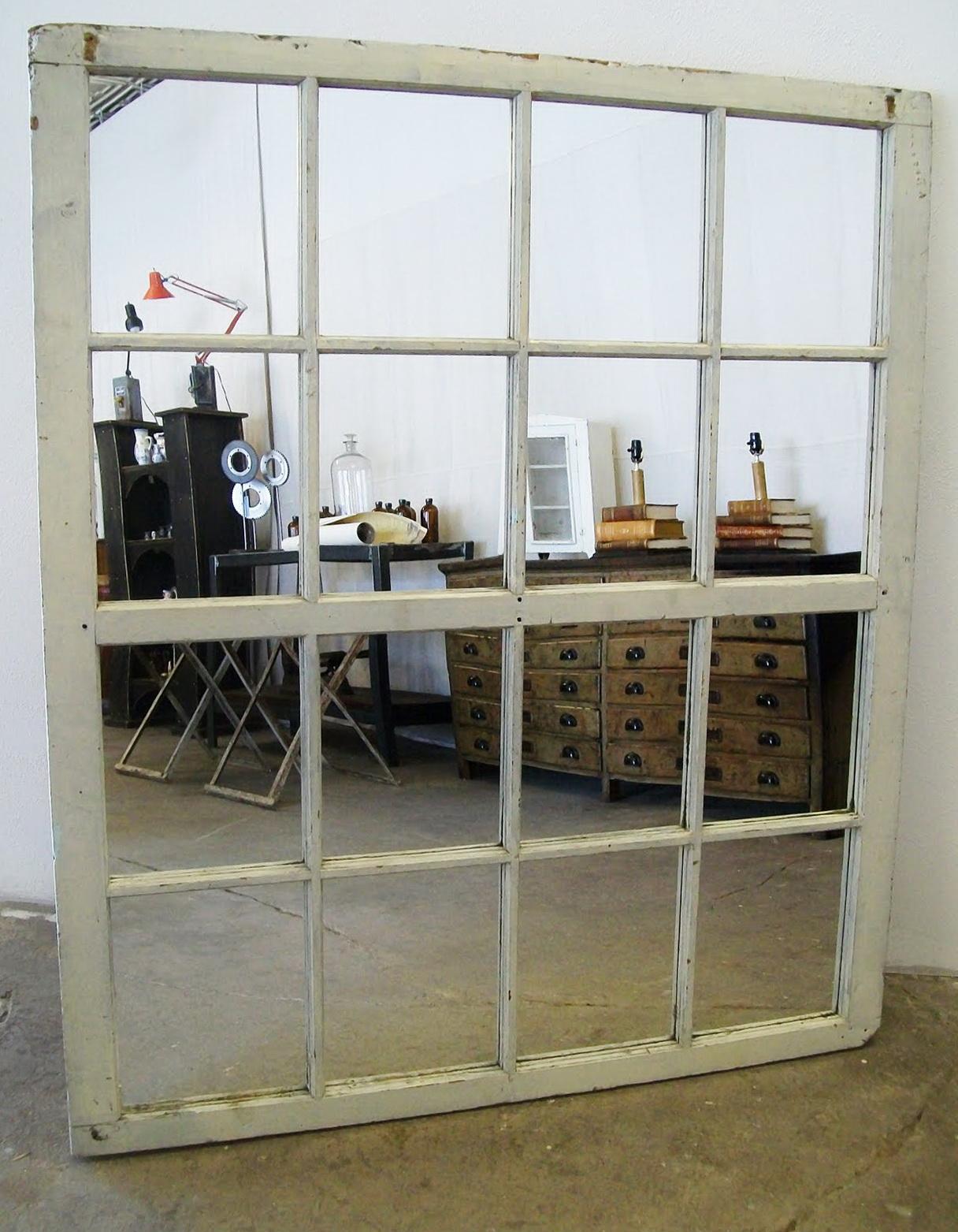 Large Window Pane Mirror