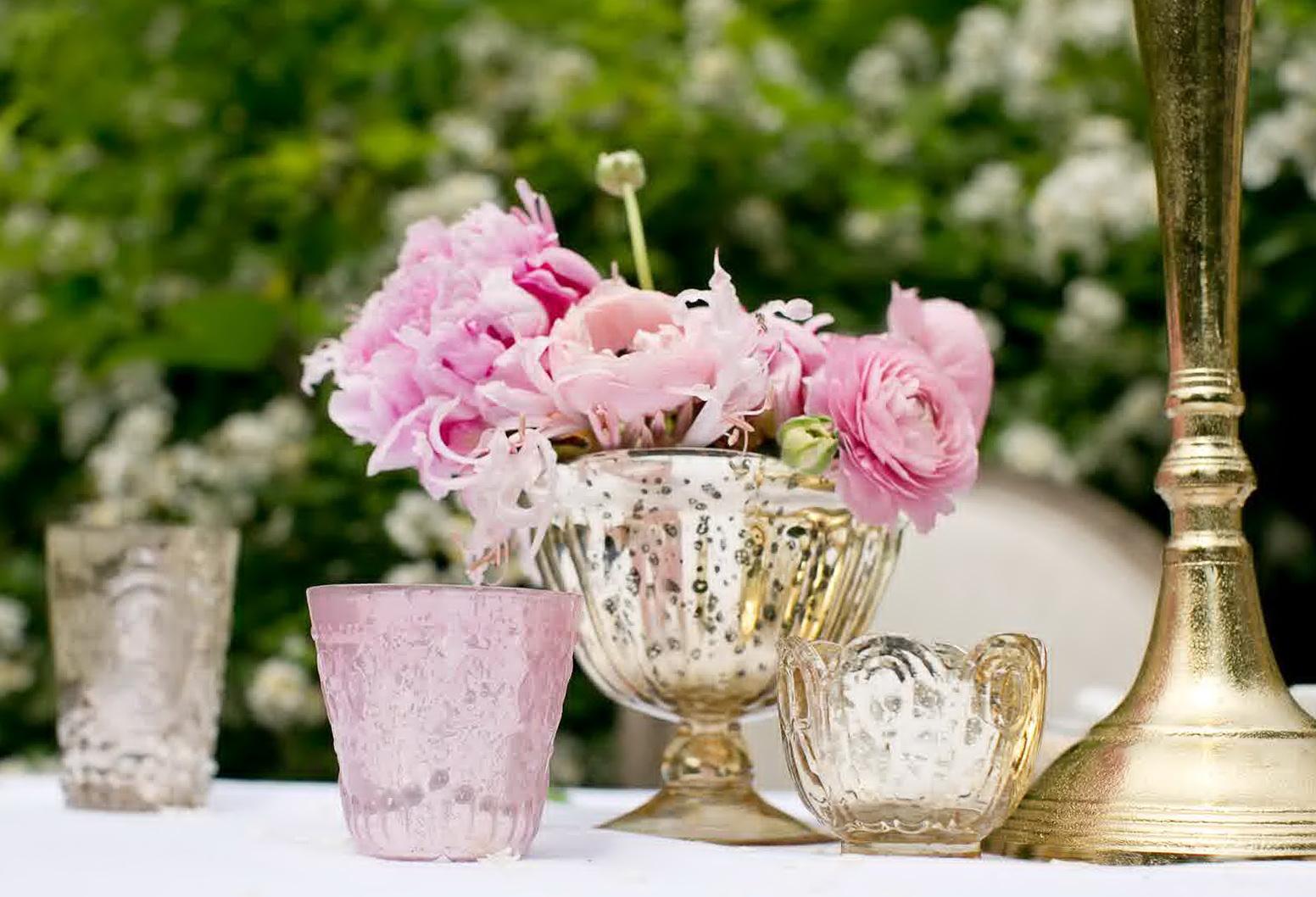 Mercury Glass Vases For Weddings