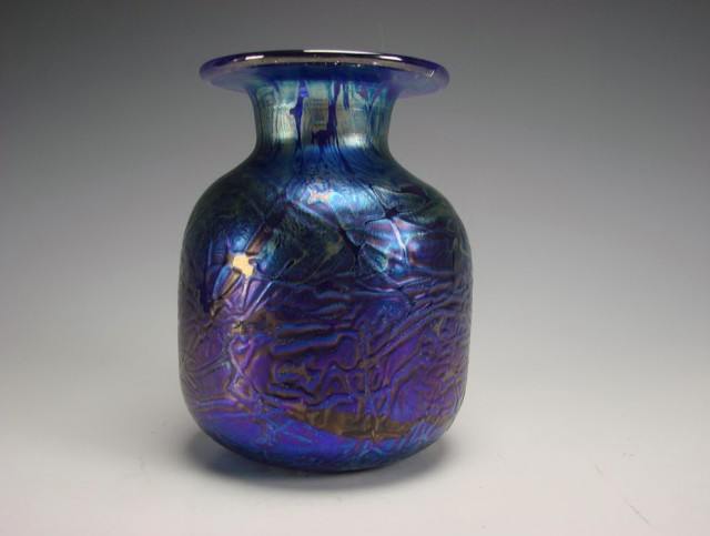 Old Blue Glass Vases