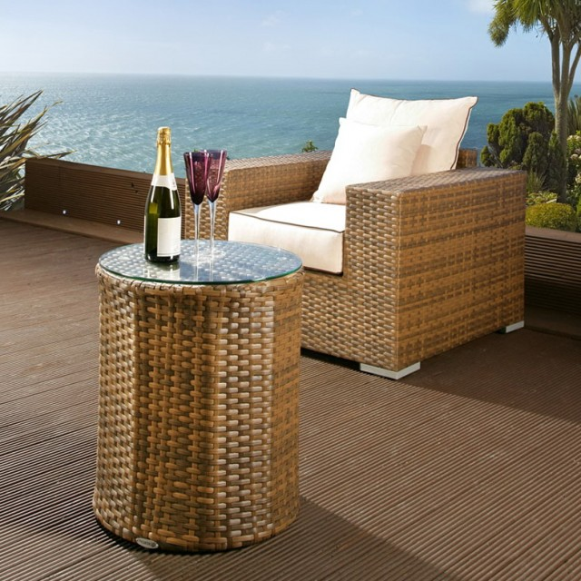 Patio Side Table Glass