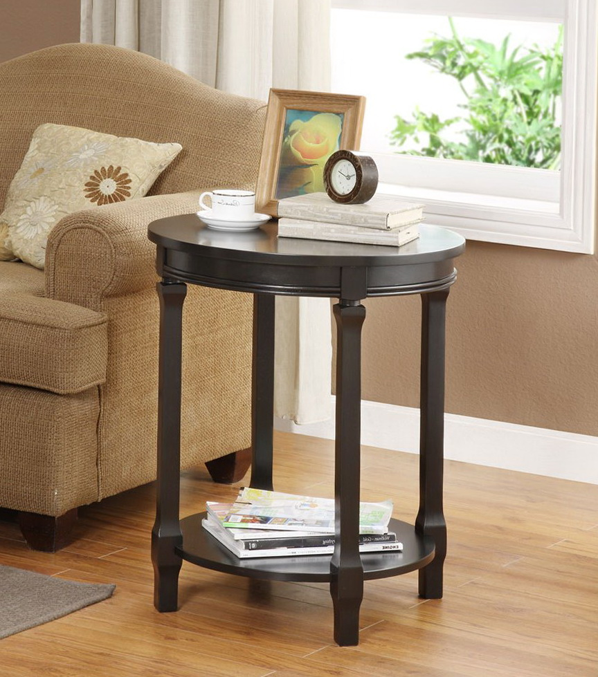 Round Side Table Black