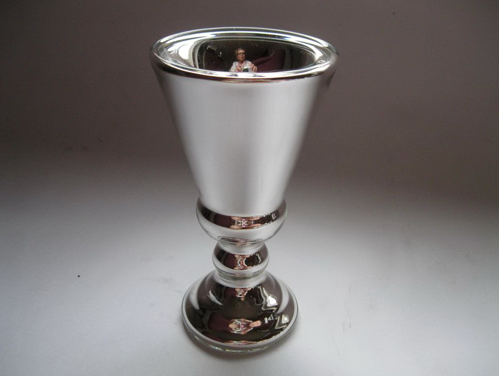 Silver Mercury Glass Vases