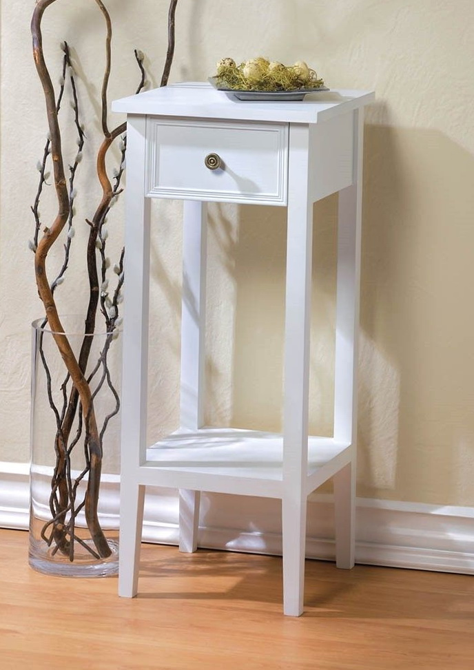 Small Side Table White
