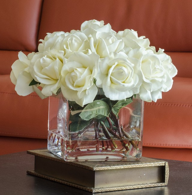 Square Glass Vase Centerpiece Ideas