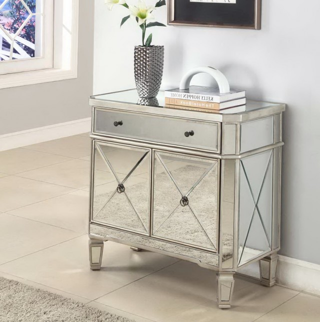 Threshold™ Mirrored Accent Table With Drawer