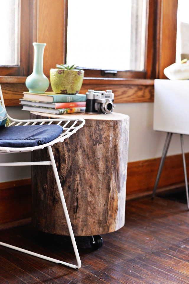 Tree Stump Side Table Diy