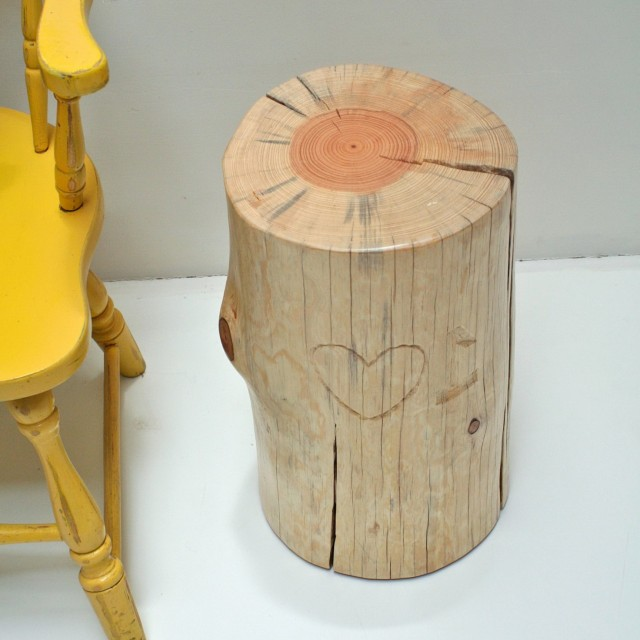 Tree Stump Side Table Etsy
