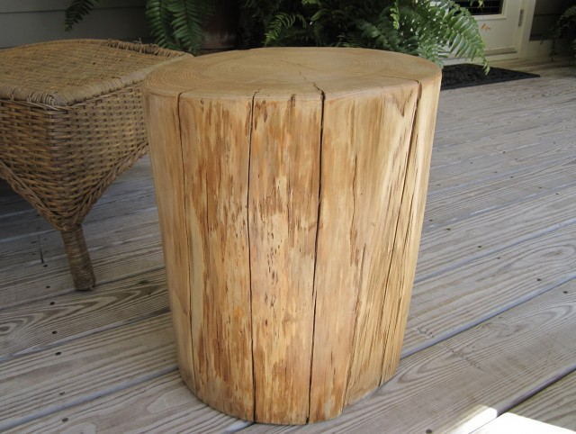 Tree Stump Side Table For Sale