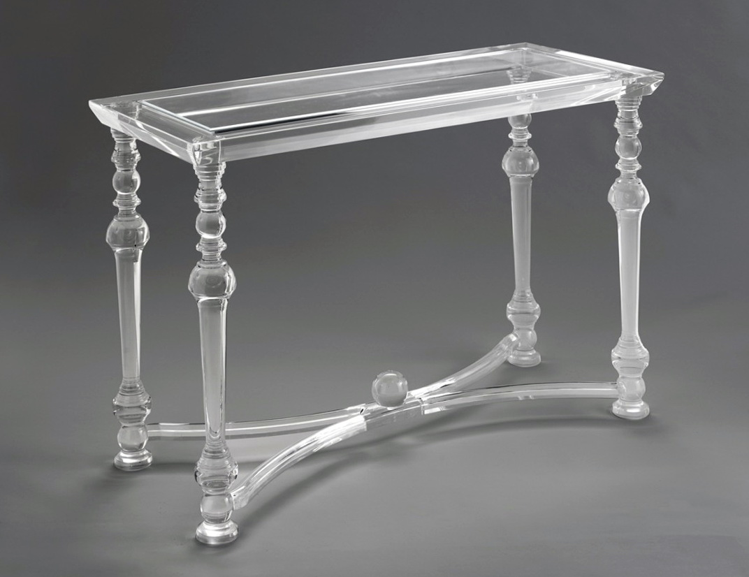 Acrylic Console Table With Shelf