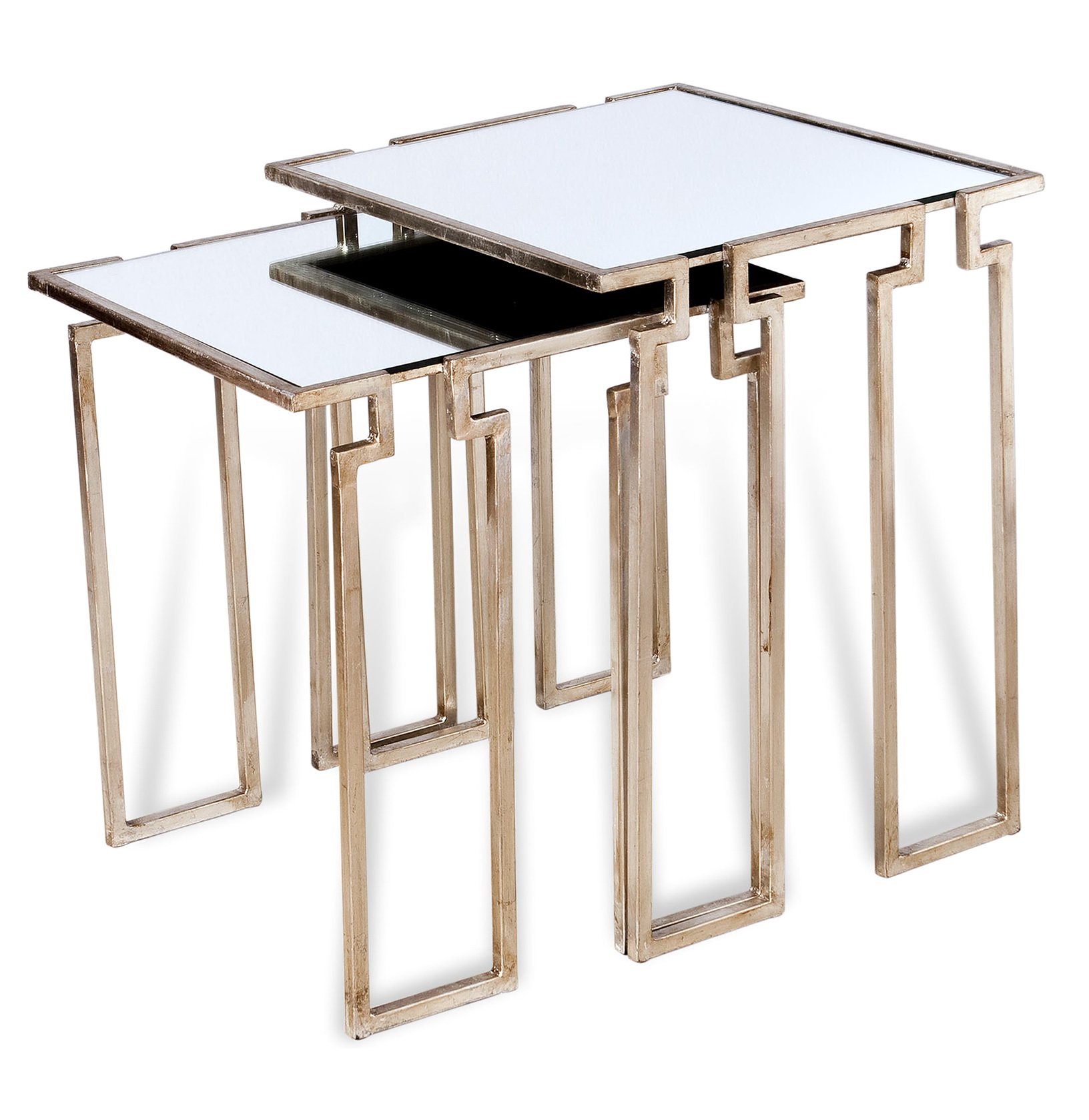 Antique Mirrored Side Tables