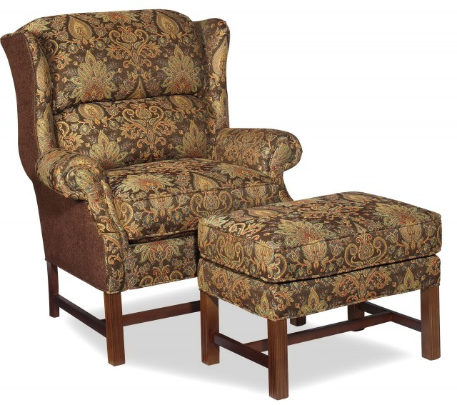 Armchair With Ottoman Set