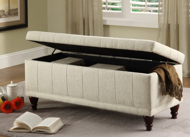 Bedroom Storage Ottoman Bench