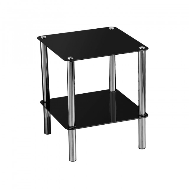 Black And Silver Side Table