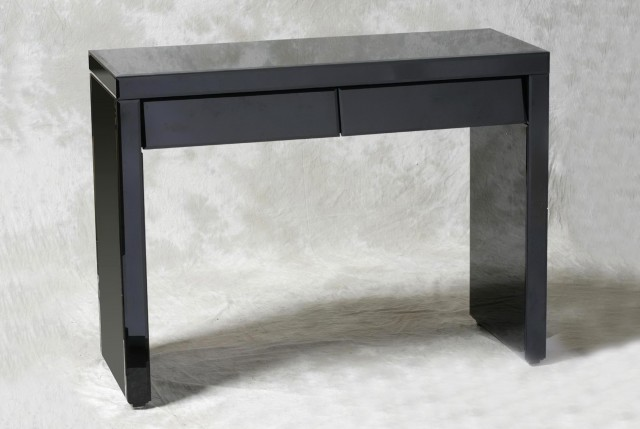 Black Console Table With Drawers