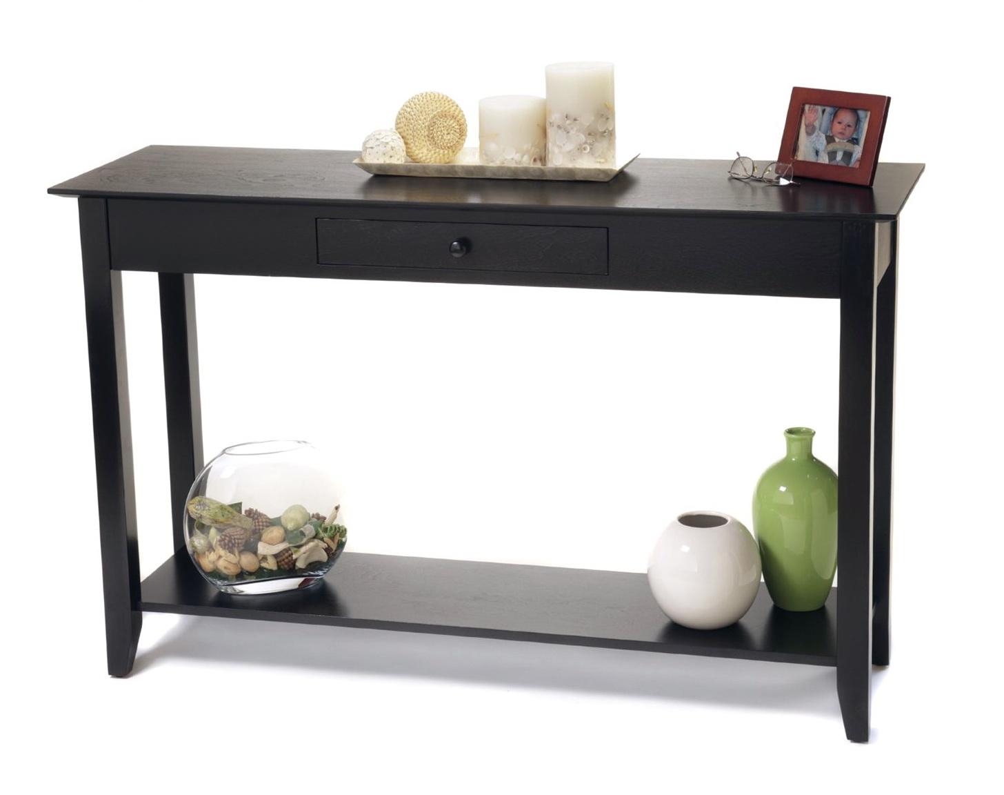Black Contemporary Console Table