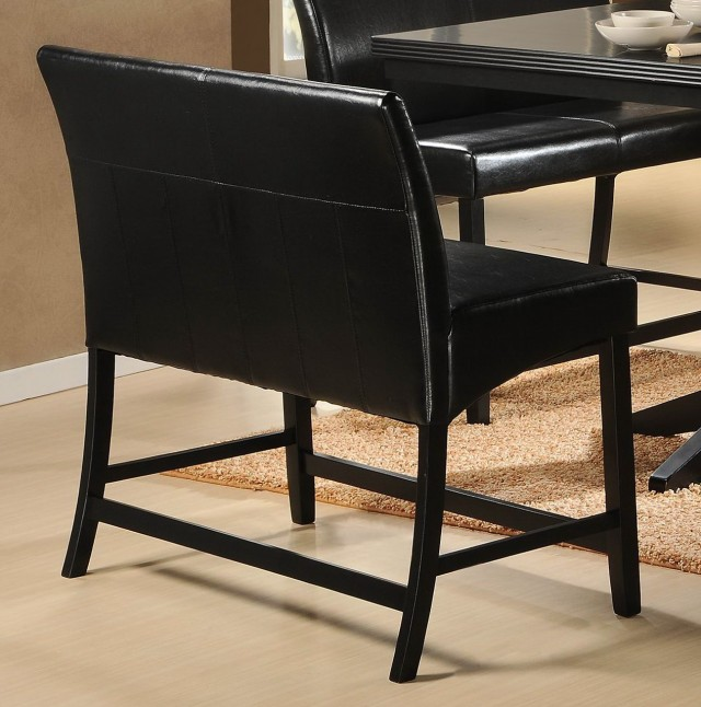 Black Counter Height Bench