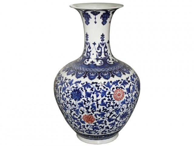 Blue And White Vase Made In China