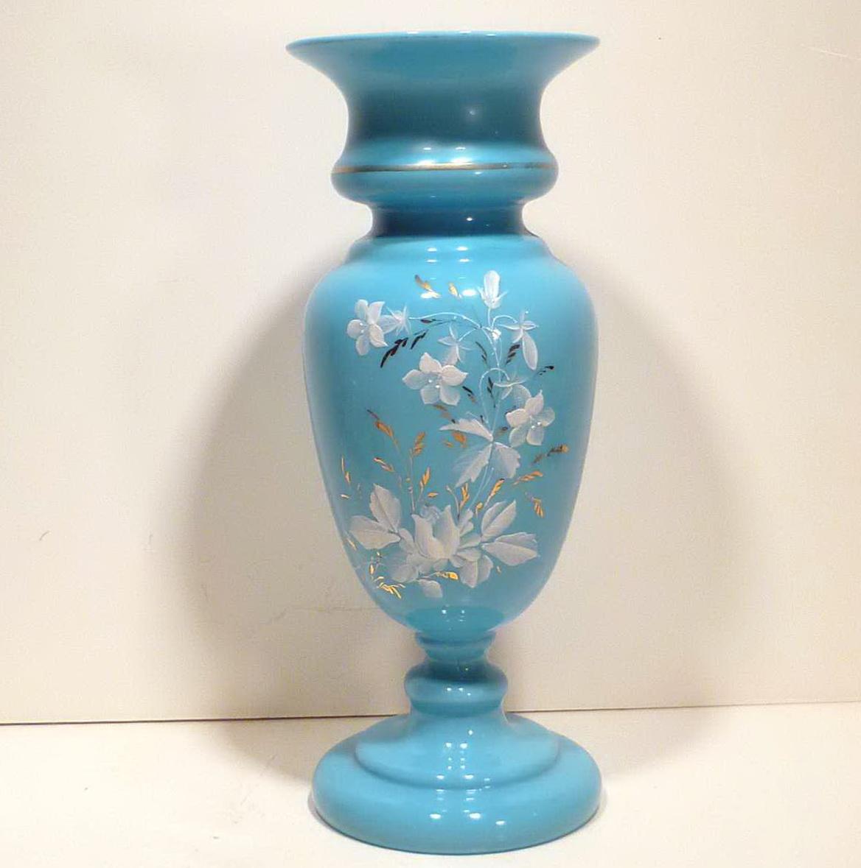 Bristol Blue Glass Vase