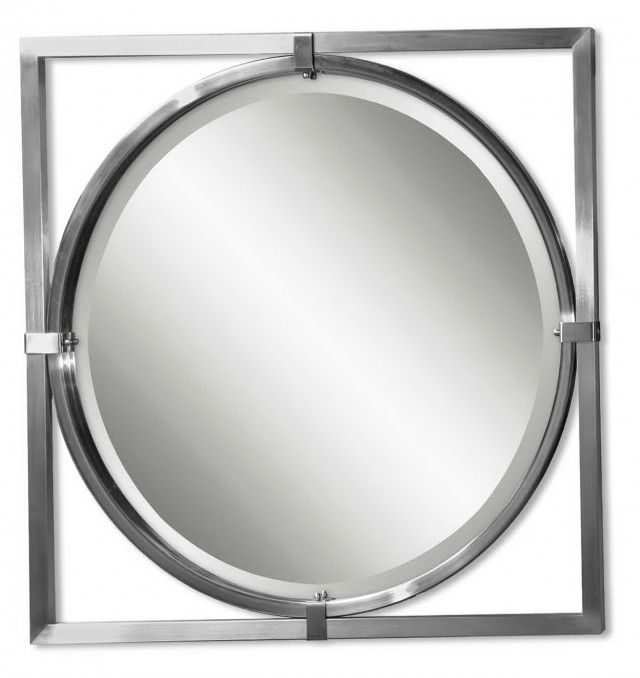 Brushed Nickel Mirror Frame