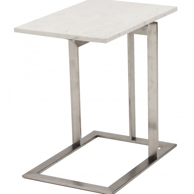 Brushed Silver Side Table