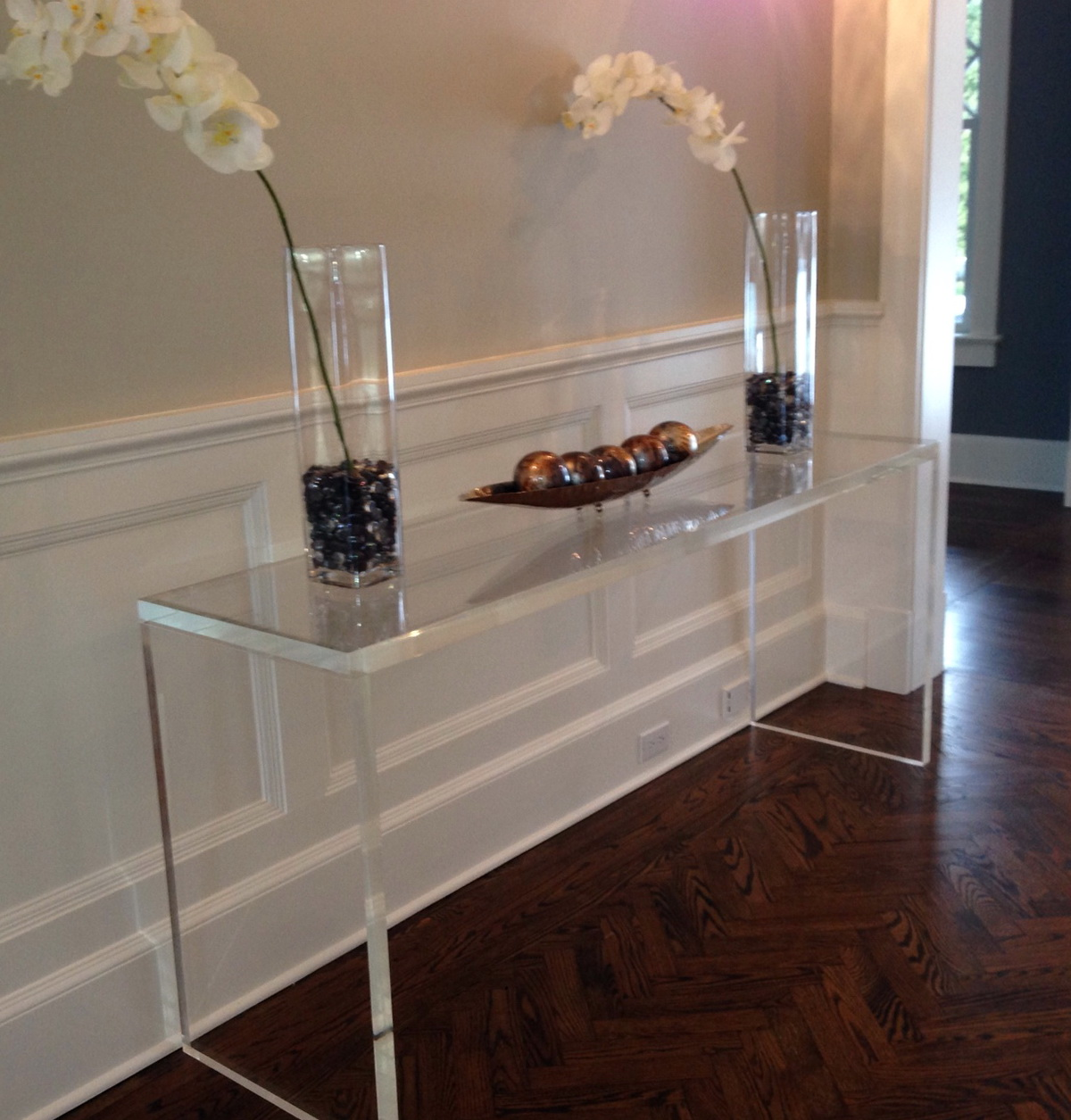 Clear Console Table Plastic