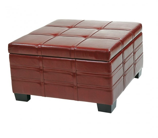 Coffee Table Ottoman Leather