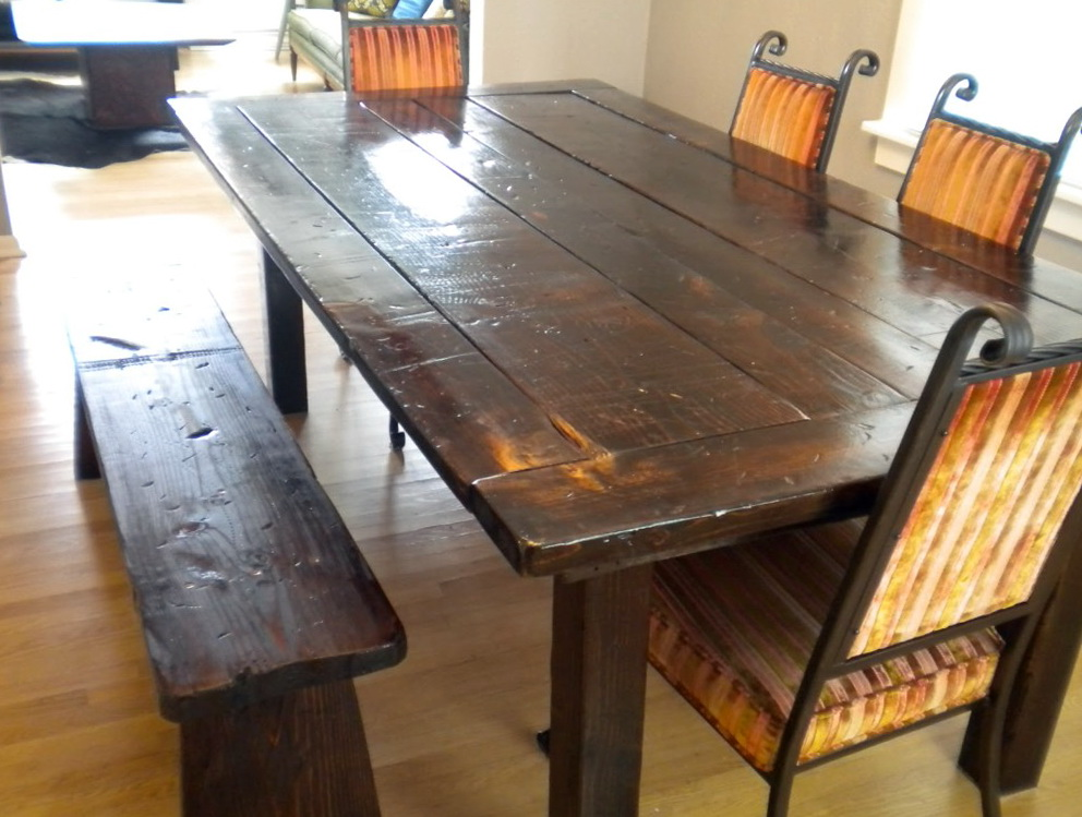Dining Table With Bench And Upholstered Chairs
