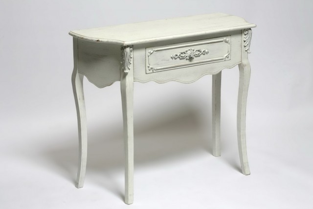 Distressed Console Table With Drawers