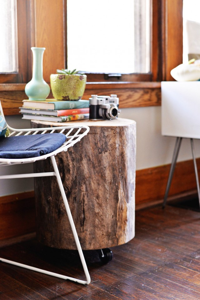 Diy Tree Trunk Side Table