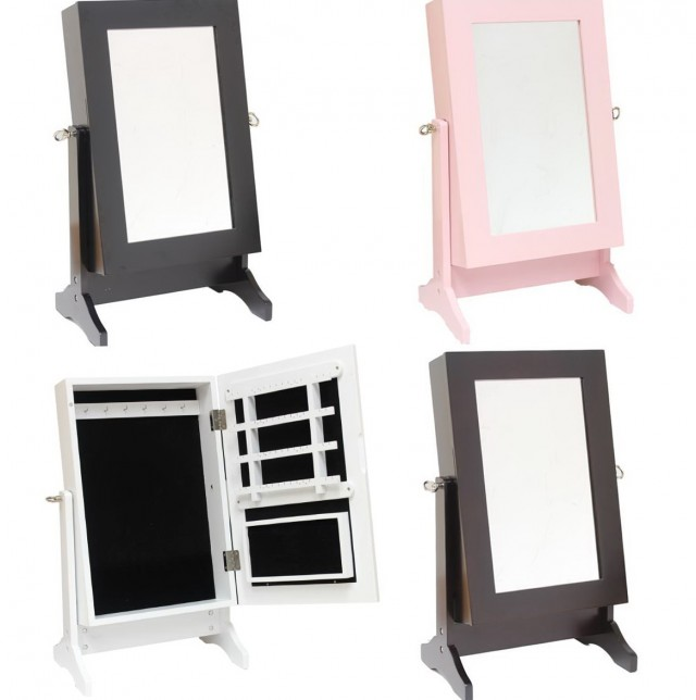 Dressing Mirror With Jewelry Storage