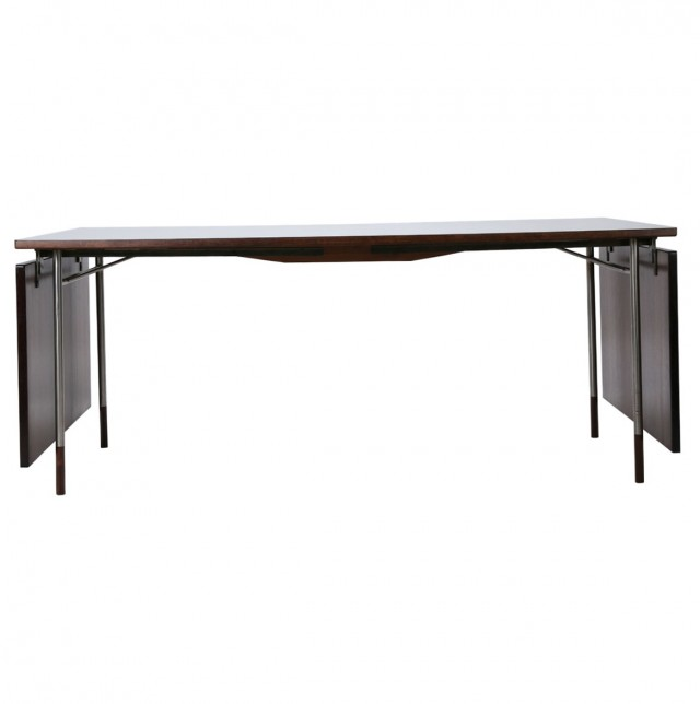 Drop Leaf Console Table Black