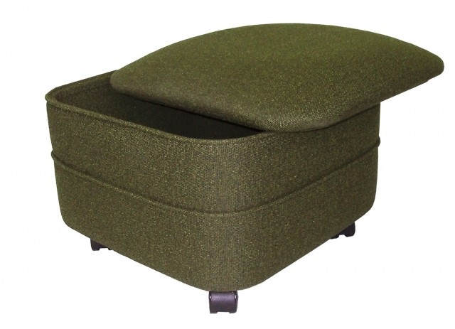 Fabric Storage Ottoman Square