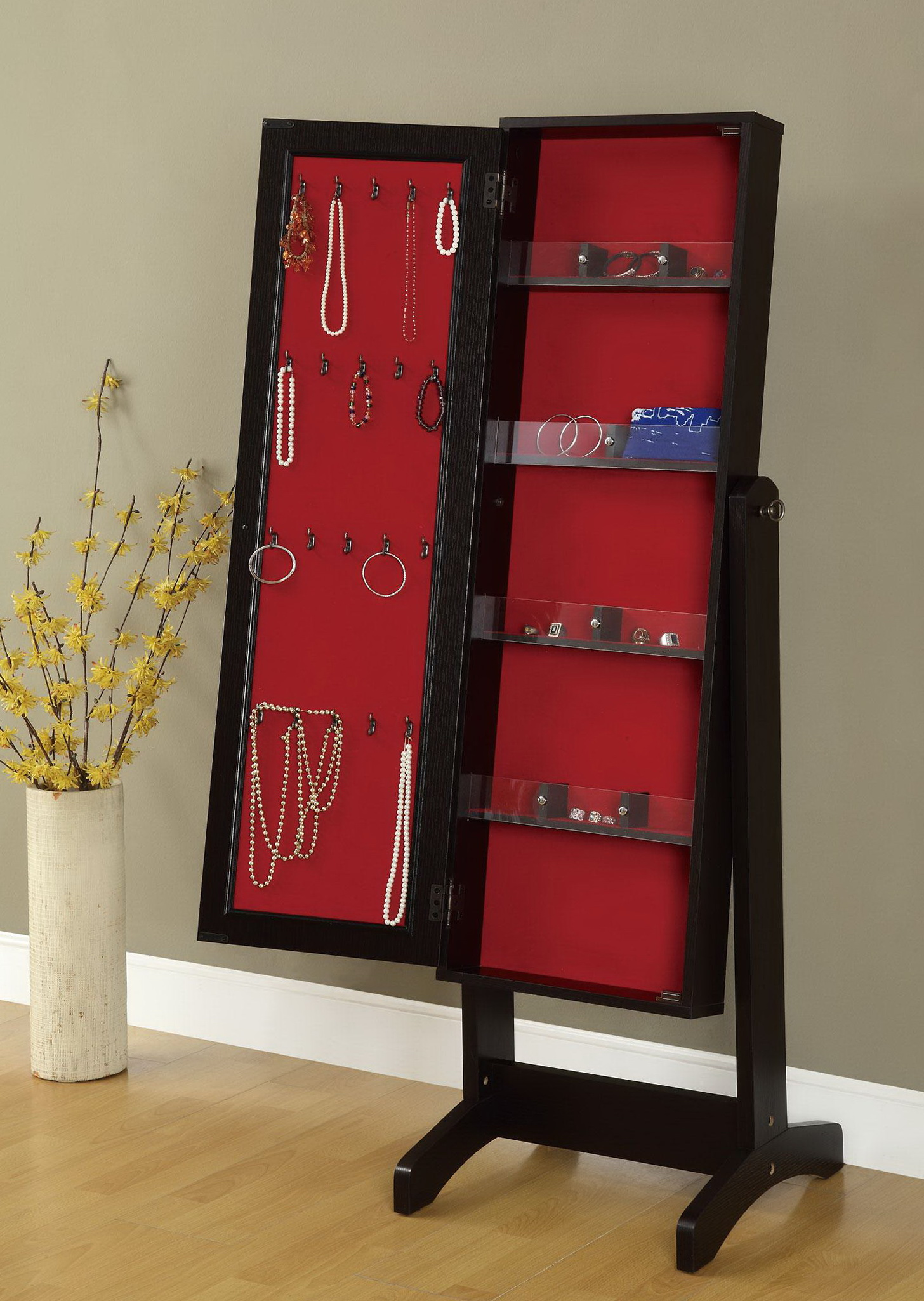Floor Length Mirror Jewelry Armoire
