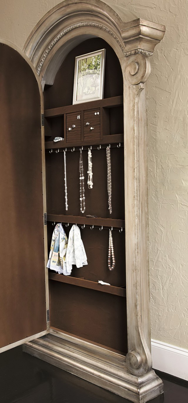 Floor Mirror Jewelry Cabinet