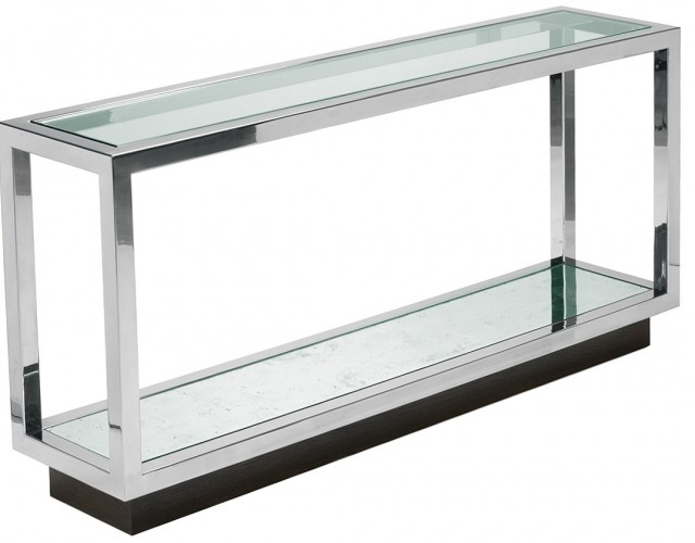 Glass Console Table Decor