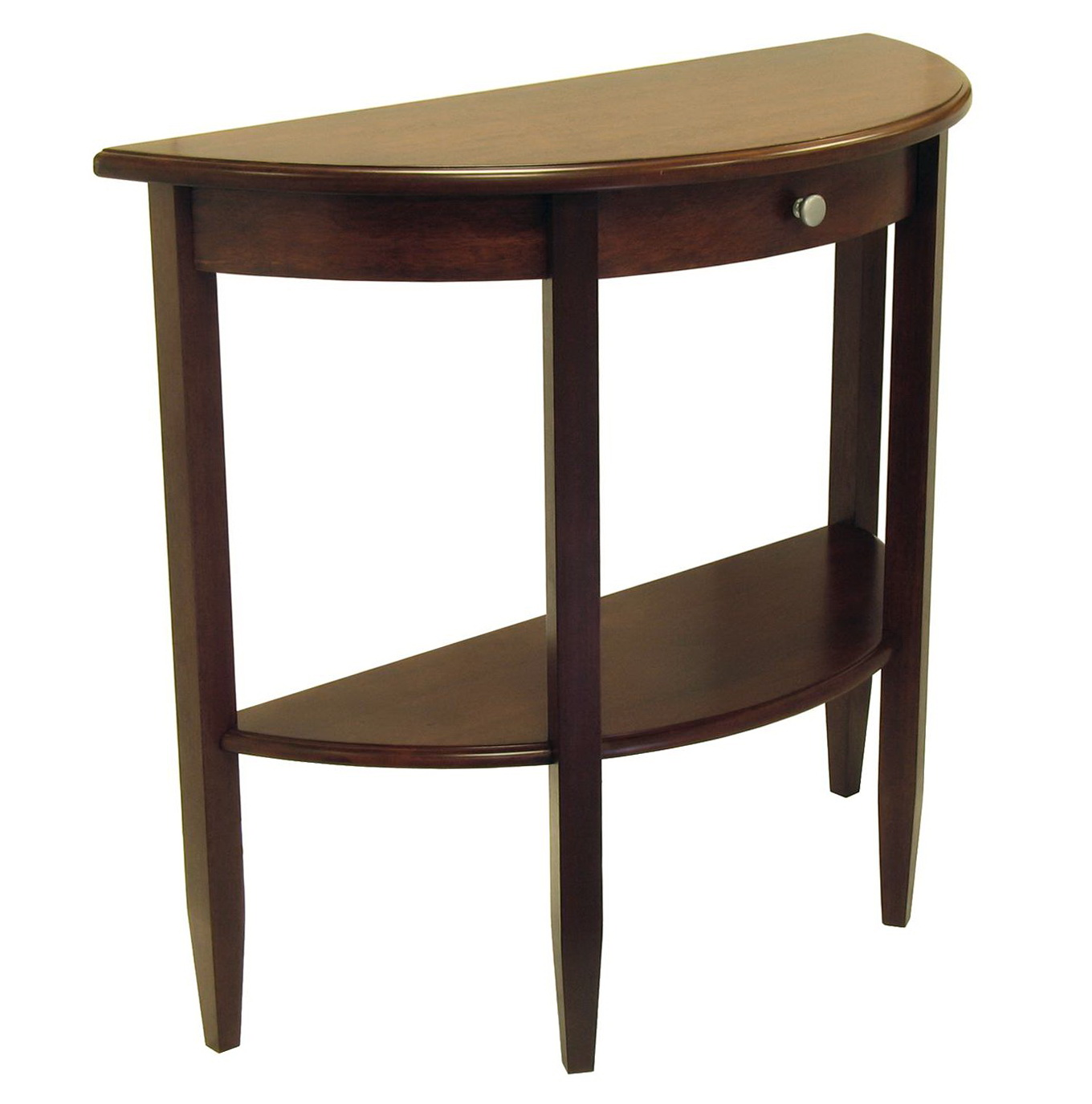 Half Moon Console Table With Drawers