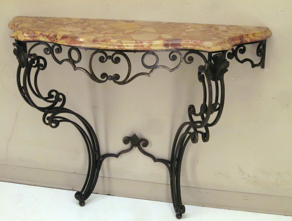 Half Moon Console Table Wrought Iron