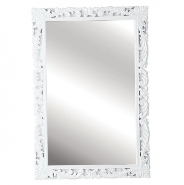 High Gloss White Framed Mirrors
