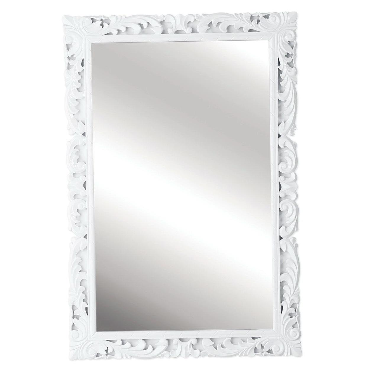 High Gloss White Framed Mirrors