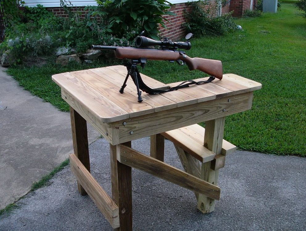 Homemade Portable Shooting Bench Plans