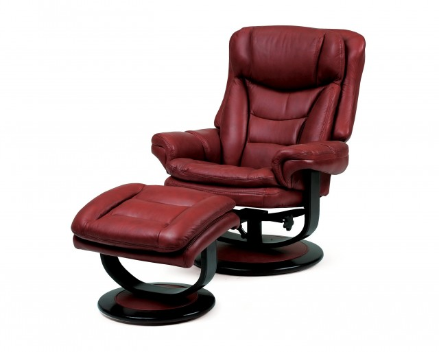 Lane Leather Chair And Ottoman