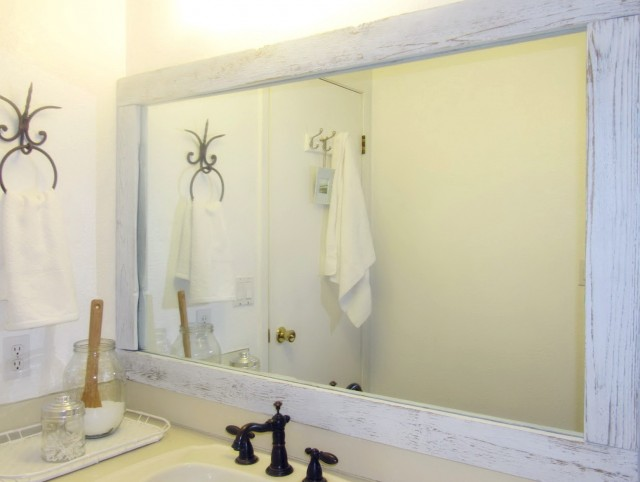 Large Bathroom Mirror Makeover